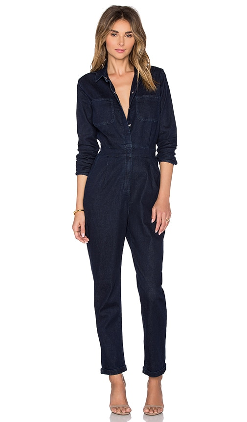 7cf8ade1143 OLCAY GULSEN Denim Jumpsuit in Dark Blue Used