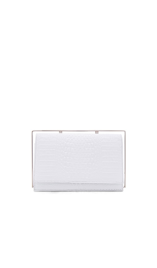 ST by OLCAY GULSEN Frame Clutch in White