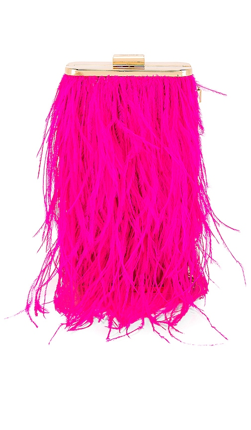 Tonia Feather Fringed Shoulder Bag