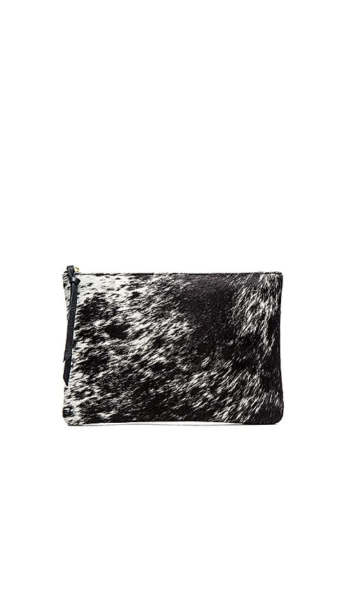 Oliveve Queenie Clutch in Black & White