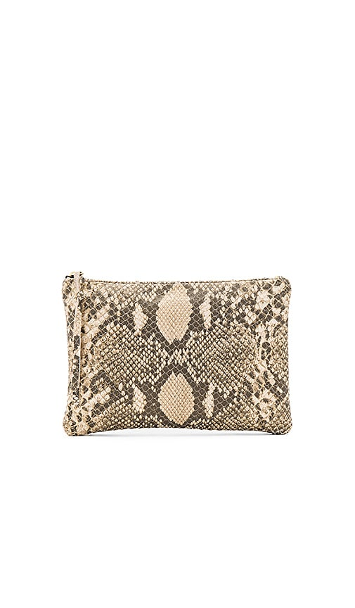 Oliveve Queenie Clutch in Metallic Gold