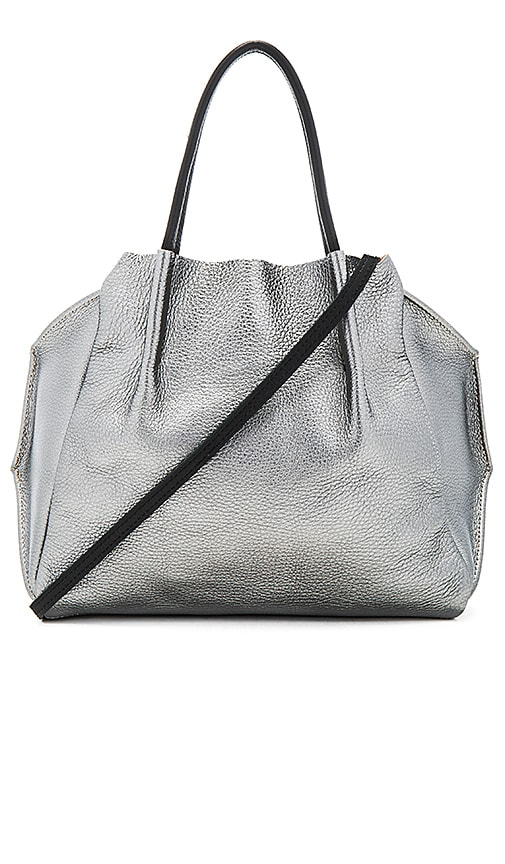 Oliveve Zoe Tote Bag in Metallic Silver