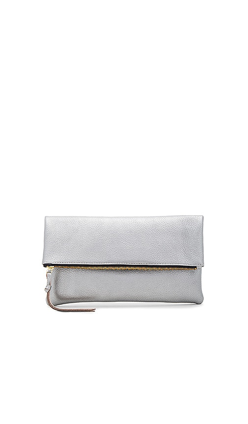 Oliveve Anastasia Clutch in Metallic Silver