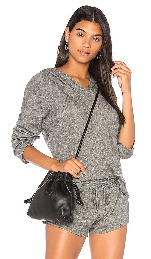 Olympia Theodora Remy Side Slit Hoodie in Gray