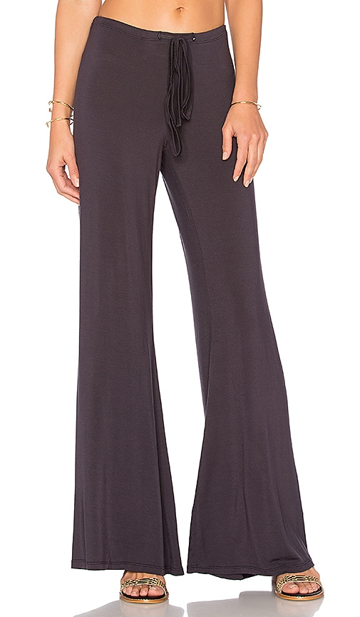 Olympia Theodora Golden Wide Leg Pant in Black