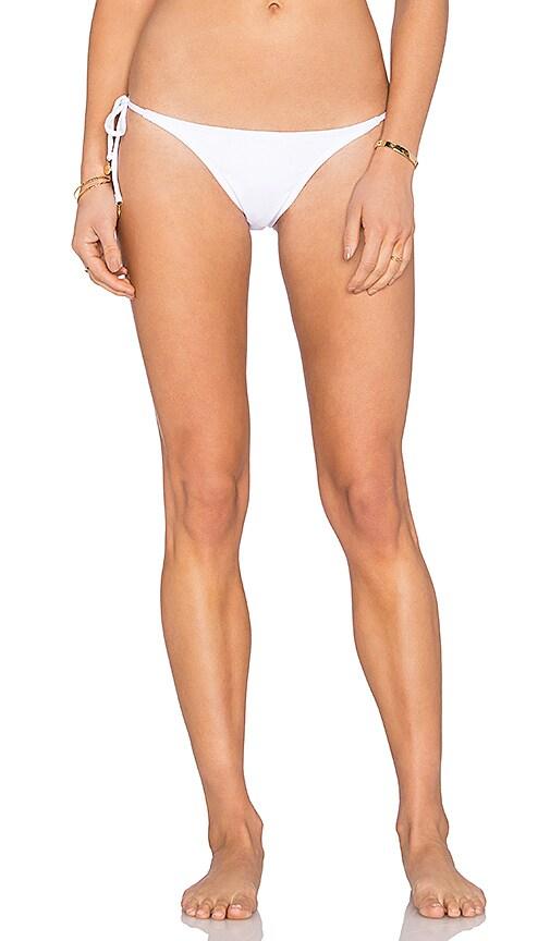 OndadeMar Side Tie Bikini Bottom in White