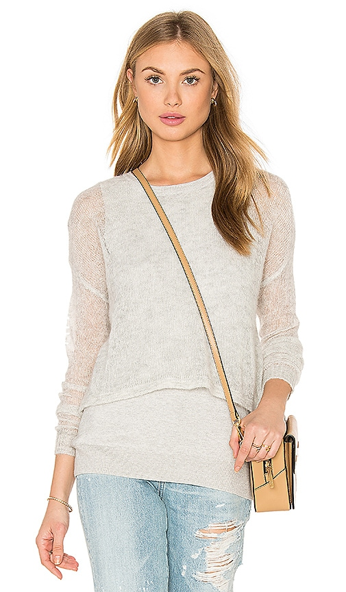 One Grey Day Valerie Sweater in Light Gray