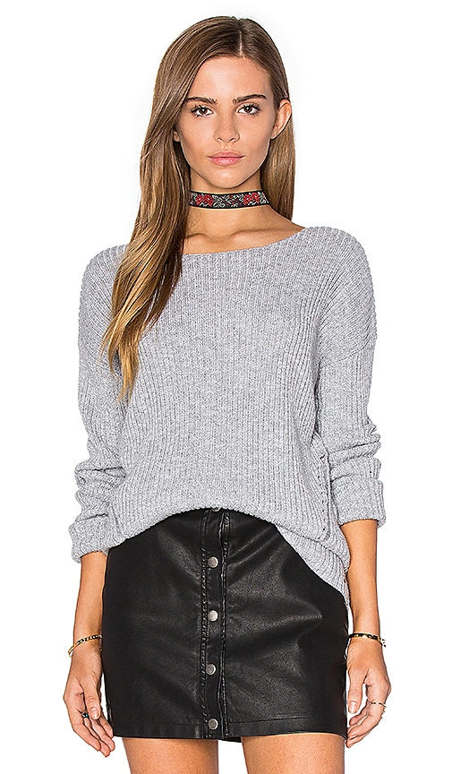 One Grey Day Billie Bell Sleeve Sweater in Gray