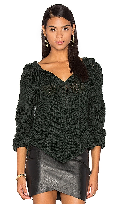 One Grey Day Sam Hooded Sweater in Green