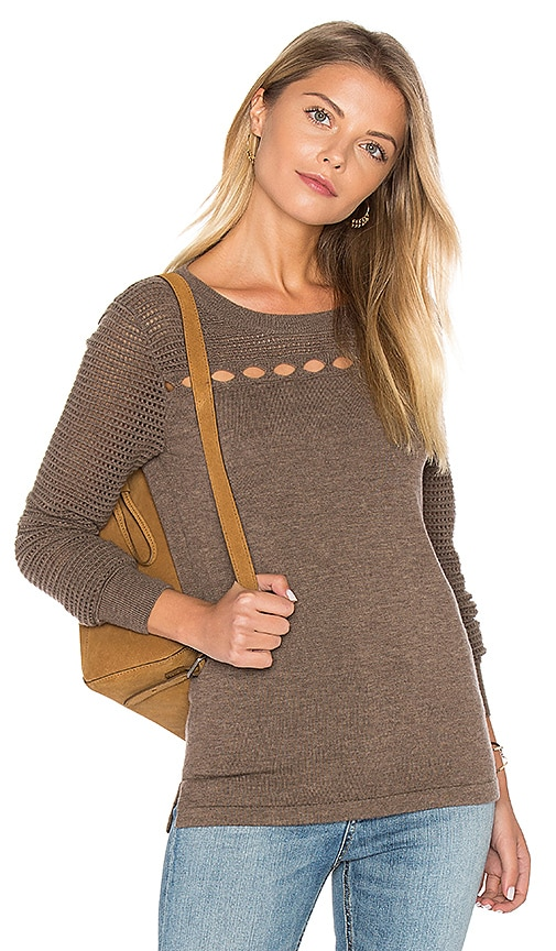 One Grey Day Wren Sweater in Taupe