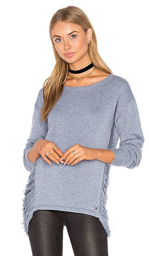 One Grey Day Adele Drape Side Sweater in Blue