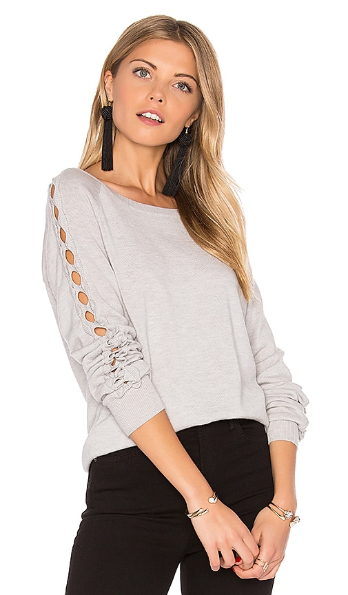 One Grey Day Benson Cut Out Sweater in Gray
