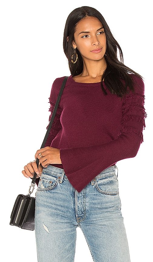 One Grey Day Finn Belle Sleeve Pullover in Wine