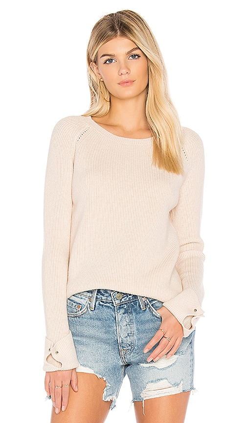 One Grey Day Reece Cuff Detail Sweater in Pink