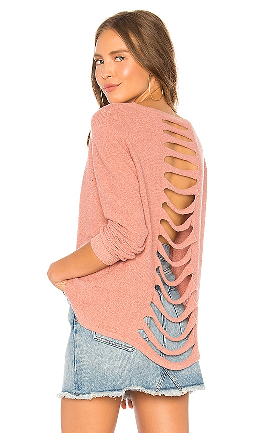 One Grey Day Blaine Sweater in Rose