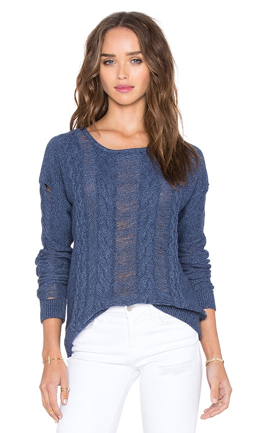 One Grey Day Berkeley Sweater in Blue