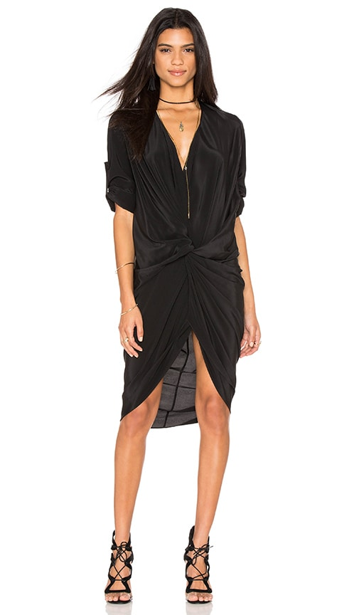 One Fell Swoop Elana Shirt Dress in Black