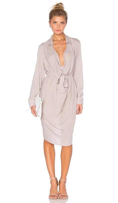 One Fell Swoop Keyhole Shirtdress in Gray