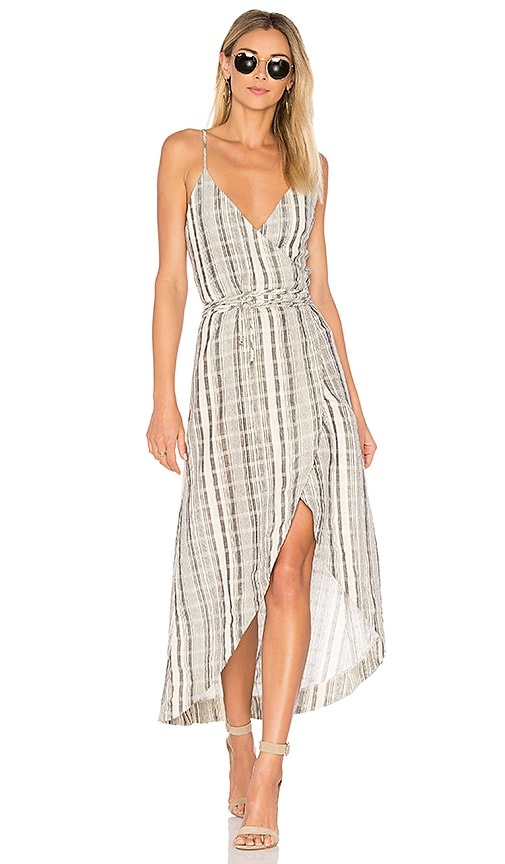 One Teaspoon The Edie Wrap Dress in Cream