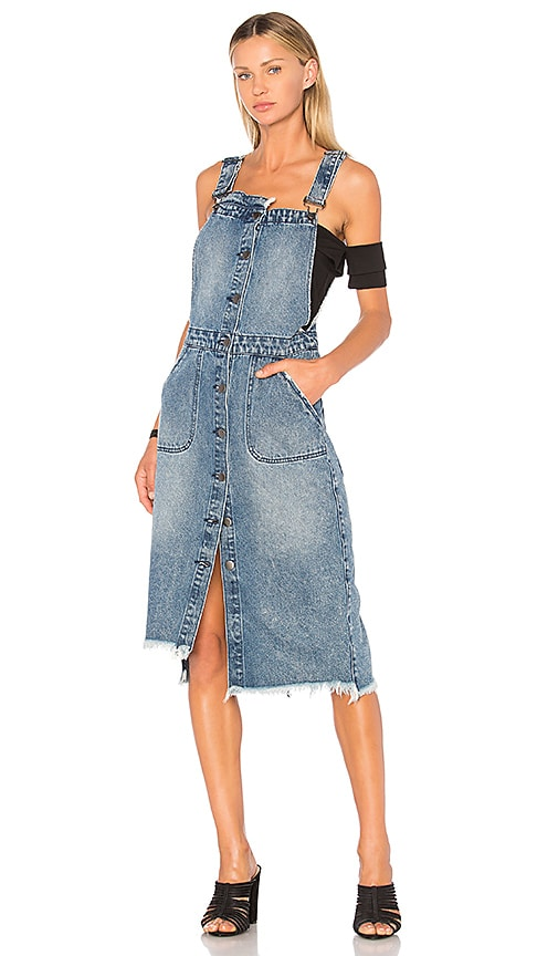 One Teaspoon Dungaree Dress in Blue Society