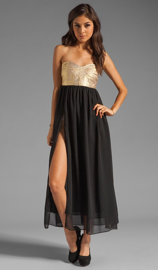 Cash On Sequin Bustier Maxi Dress