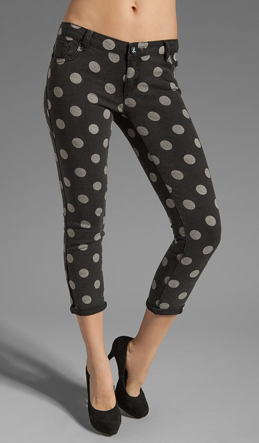Polka Iggys Low Waist Polka Dot Stretch Denim Skinny