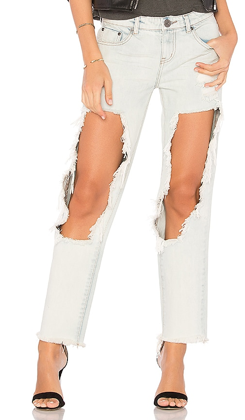 One Teaspoon Awesome Baggies Straight Leg Jean in Diamonde