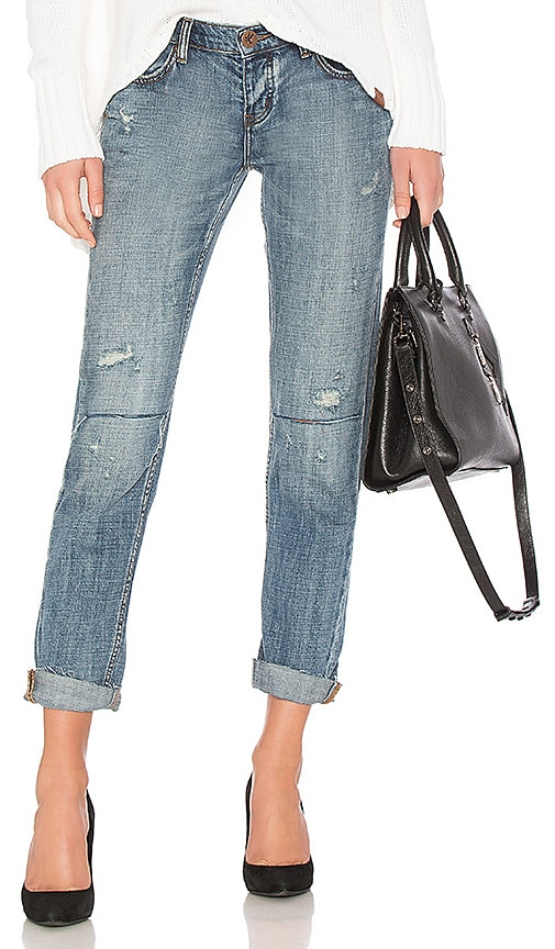 One Teaspoon Awesome Baggies Straight Leg Jean in Blue Suede