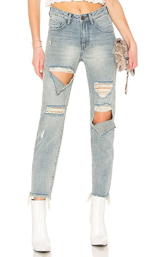 cfc0bc59e99 One Teaspoon Awesome Baggies High Waist Straight Leg Jean in Blue ...