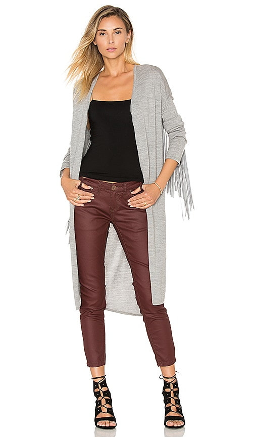 One Teaspoon The Sloan Fringe Cardigan in Gray