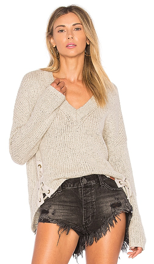 One Teaspoon Saints and Roses Sweater in Light Gray