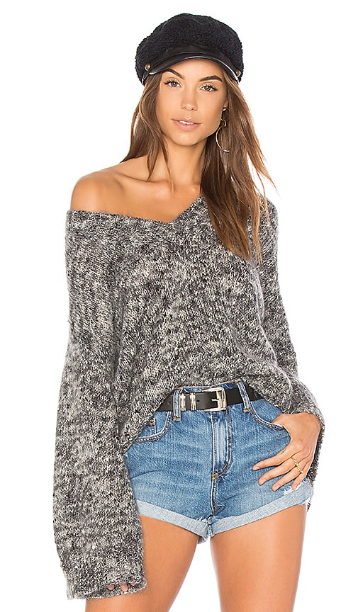 One Teaspoon Superior Fame Sweater in Gray