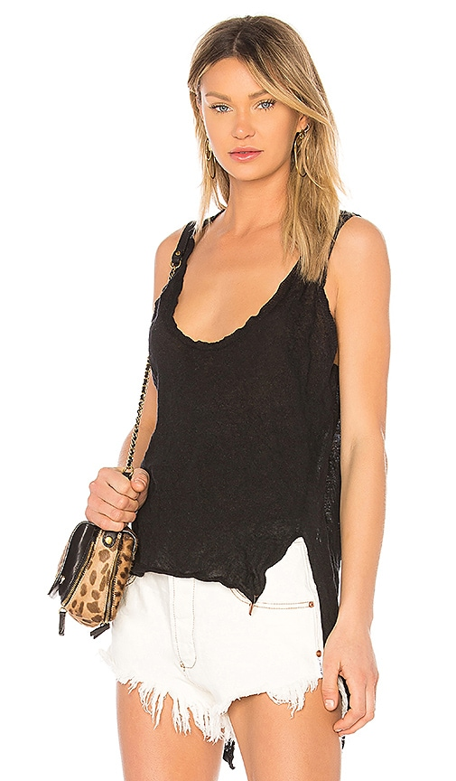 One Teaspoon Bungalow Steel Knit Top in Black