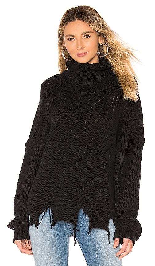 Destroyed Turtleneck Sweater
