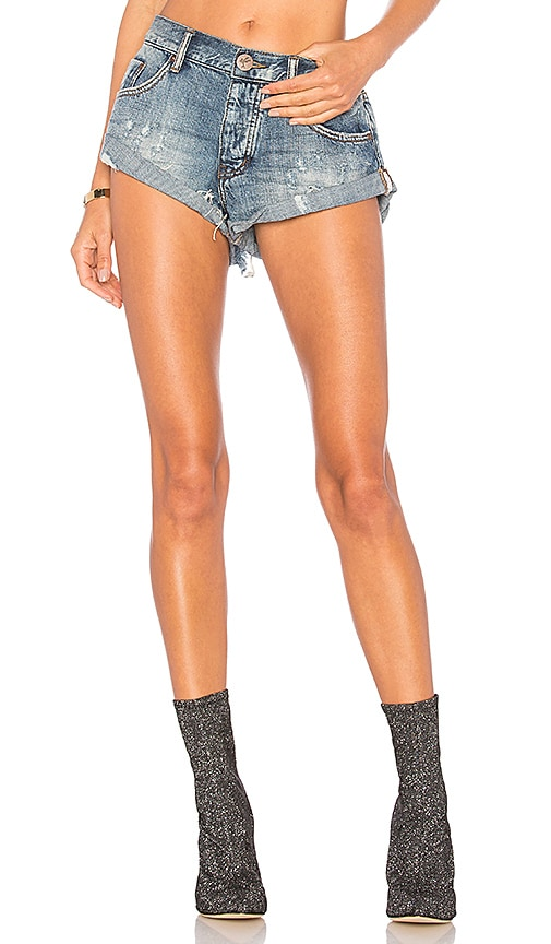 One Teaspoon Bandits Short in Blue Suede