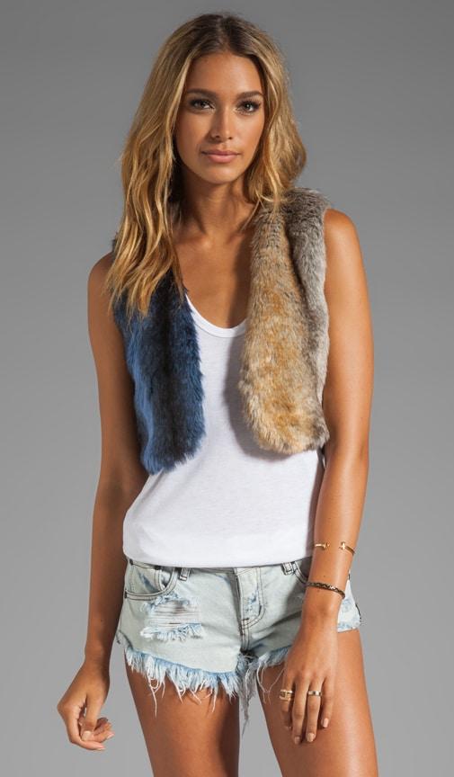 Wild Domino Fur Vest