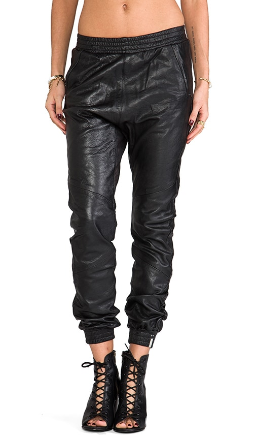 Leather Trackies Pant