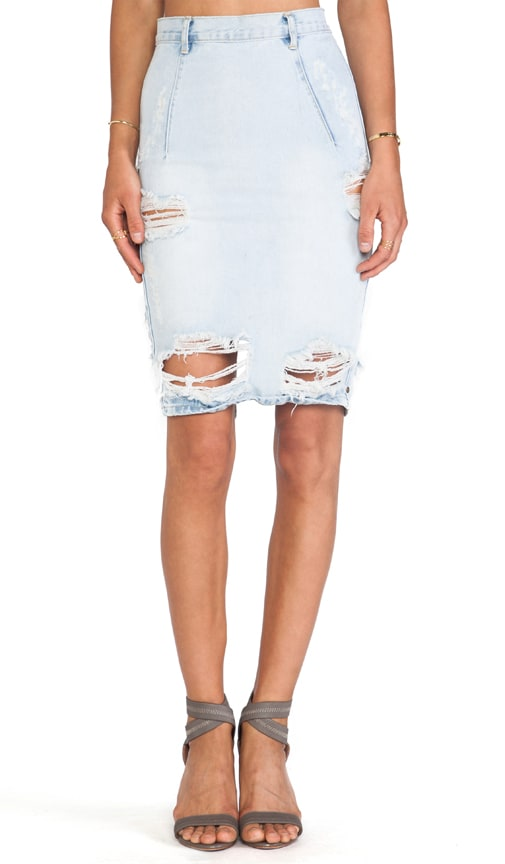 Free Love Denim Pencil Skirt