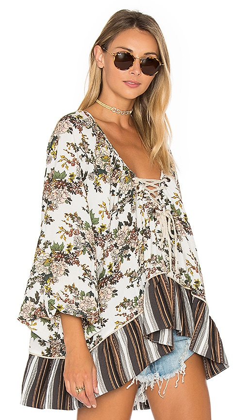 One Teaspoon Wild Valley Top in White