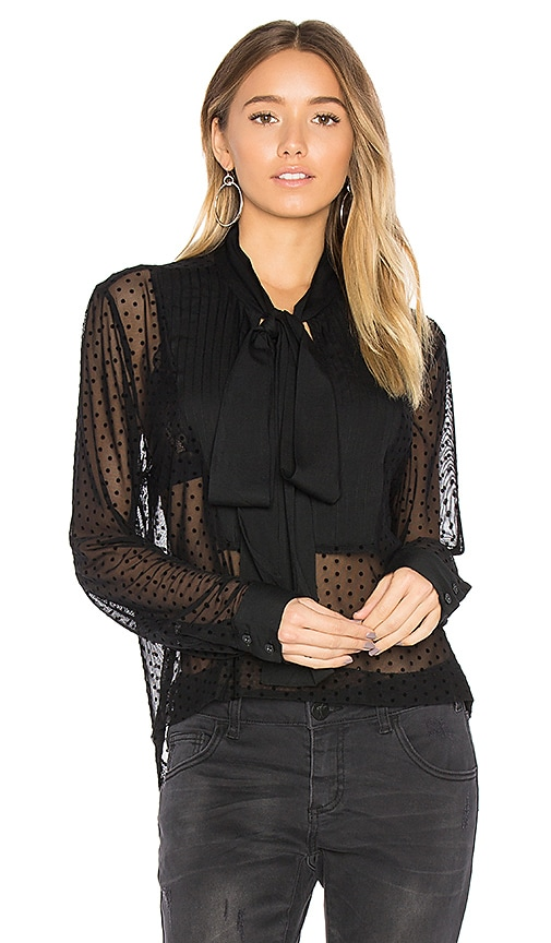 One Teaspoon The Jack Evening Shirt in Black