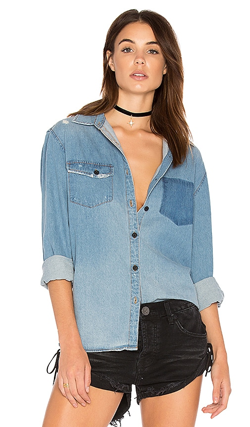 One Teaspoon The Southbank Shirt in Blue Jane