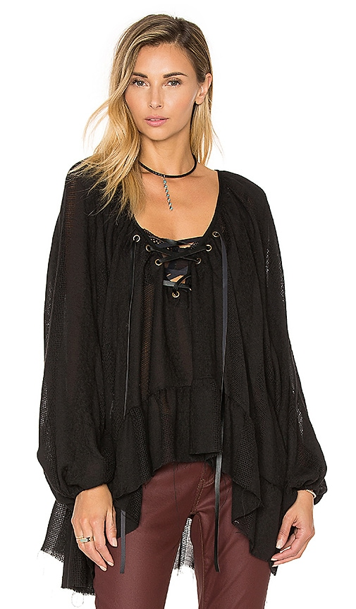 One Teaspoon San Juan Blouse in Black