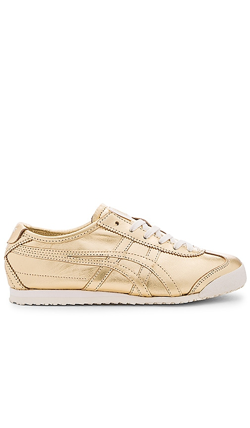 Onitsuka Tiger Mexico 66 Sneaker in Metallic Gold