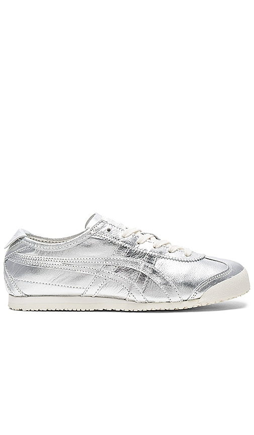 Onitsuka Tiger Mexico 66 Sneaker in Metallic Silver