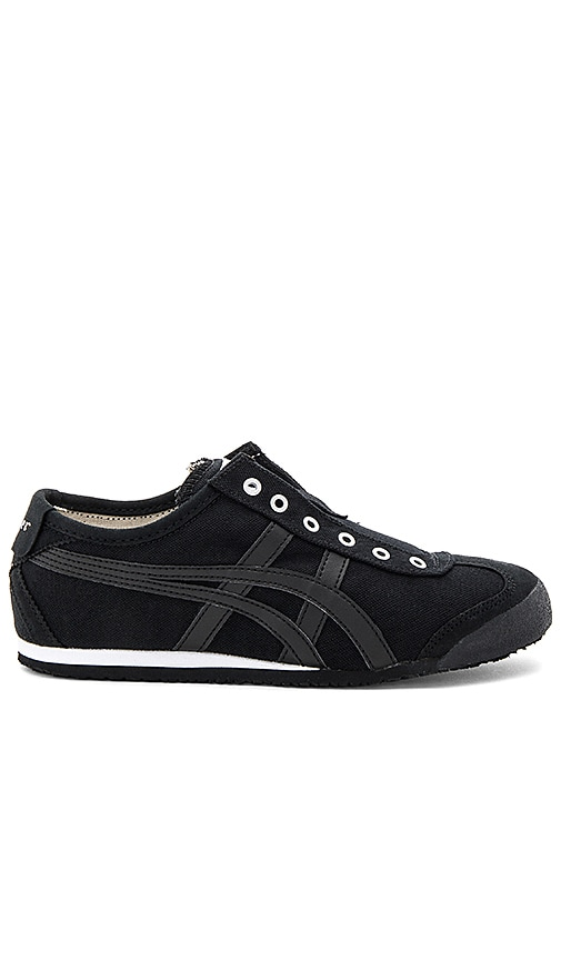Onitsuka Tiger Mexico 66 Slip On Sneaker in Black