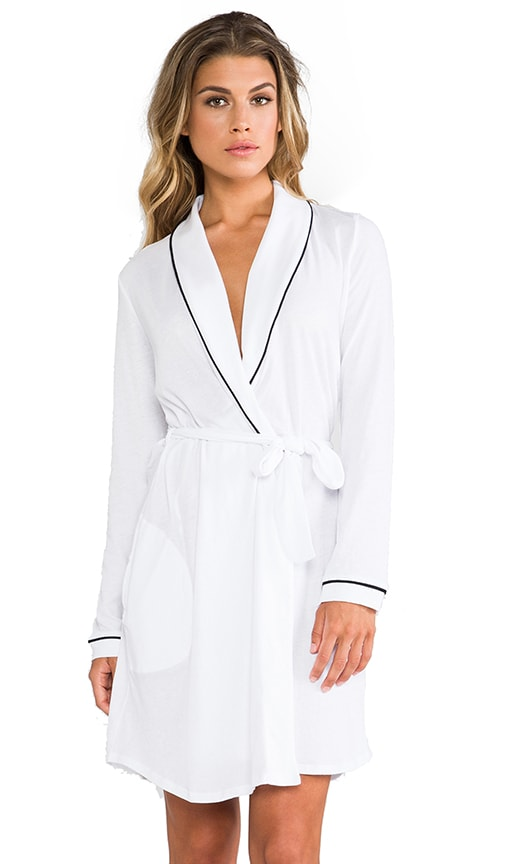 Organic Cotton Piped Short Robe