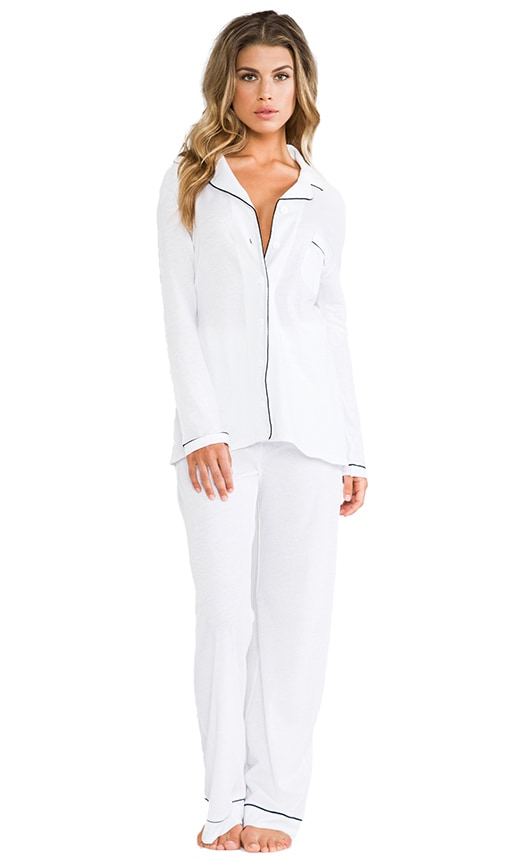 Organic Cotton Piped Pajama Set