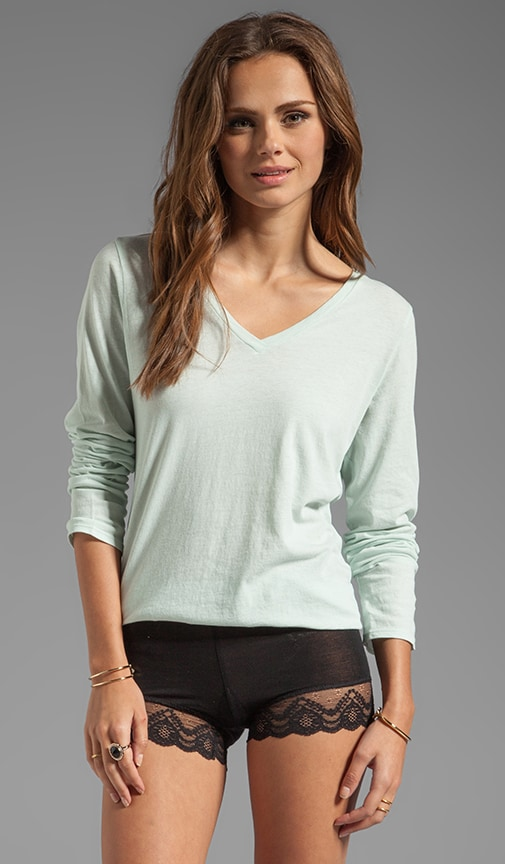 Organic Cotton Long Sleeve V Neck