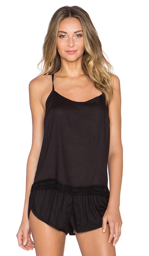 Only Hearts Blanca Racer Back Cami in Black
