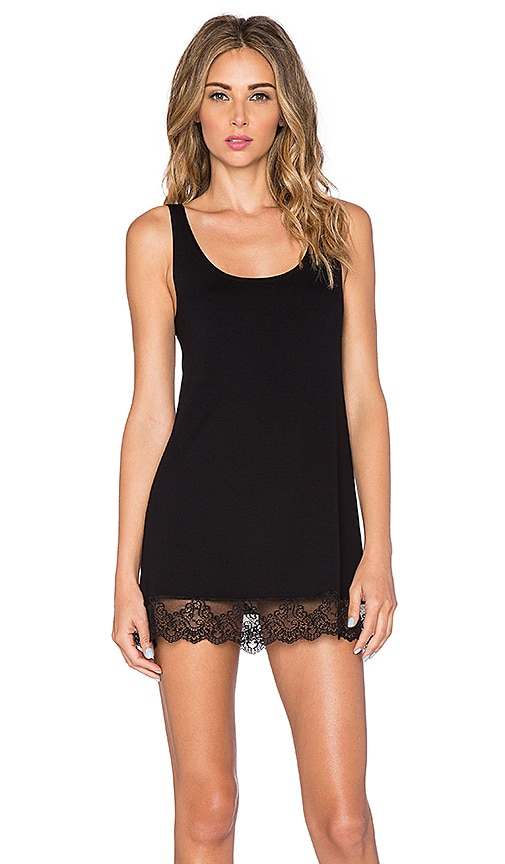 Only Hearts So Fine Lace Tunic Tank in Black